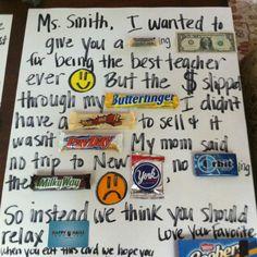 Teacher gift/Gift card