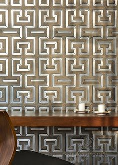 Theseus in porcelain wood, brushed aluminum, and stone | Parterre Collection | New Ravenna