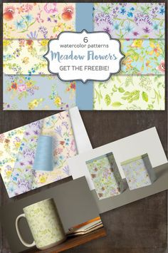 Meadow Flowers, Wildflowers, Watercolor Pattern, Pattern Design, Delicate, Templates, Patterns, Paper, Floral