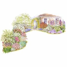 Enjoy the soft romance of a cottage garden while inviting birds and butterflies into your landscape.