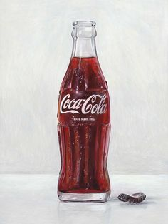 A bottle is often a narrow-necked container built from an impermeable material in several sizes and Coca Cola Bottles, Bottle Of Coke, Joel Penkman, Dojo, Bottle Drawing, Still Life Artists, Rain Barrel, Incredible Edibles, A Level Art