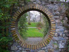 Garden Wall Moongate. Birr Castle. Birr, County Offaly, Ireland.