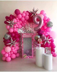 Barbie Party Decorations, Barbie Theme Party, Barbie Birthday Cake, Birthday Balloon Decorations, Birthday Balloons, Ramadan Decoration, Deco Ballon, 4th Birthday Parties, 5th Birthday