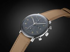 New 2015 Max Bill for Junghans Chronoscope Watch