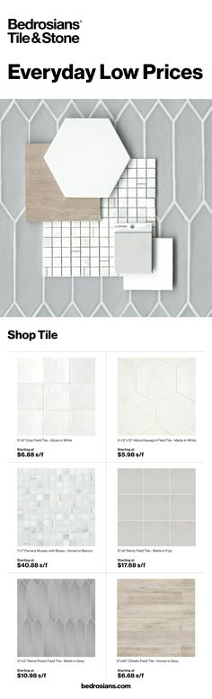 Shop the latest trends in tile and stone at www.bedrosians.com