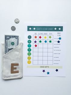 Star Chart and Wallet- Chore System for Young Kids- One Little Minute Blog-2-2