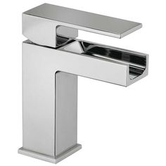 Comes in Gold Jewel Faucets Single Handle Single Hole Lavatory Faucet with Waterfall Spout Deck plate available faucet price $424