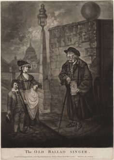 The old-ballad singer, 1779?, Lewis Walpole Library Digital Collection