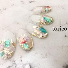 TORICOのネイルデザイン[No.4216214]|ネイルブック Korea Nail, Asian Nails, Cotton Candy Nails, Elegant Nail Art, Galaxy Nails, Nails Only, Japanese Nail Art, Mermaid Nails, Minimalist Nails