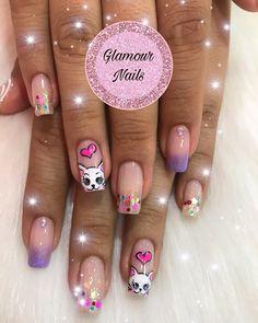 Cute Acrylic Nails, Finger Nails, Trendy Nail Art, Toe Nail Art, Ongles