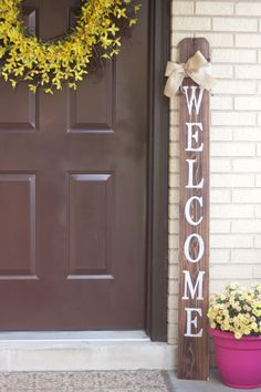 WELCOME Front Porch Wooden Sign, Welcome Sign, Front Porch Sign by EmeraldMarket on Etsy https://www.etsy.com/listing/256541499/welcome-front-porch-wooden-sign-welcome