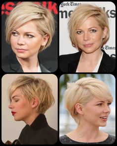 Michelle Williams' grown out pixie cut