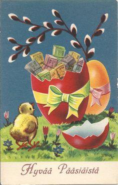 ˇˇ Vintage Cards, Vintage Postcards, Easter Art, Vintage Easter, Fun, Decorated Cookies, Painting, Elsa, Heaven