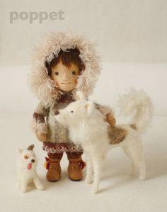 poppet 羊毛フェルトの人形と雑貨