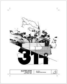 prod. sérigraphie - poster 'Quartier d'hiver' 520x650mm - 1coul 'Bleu baltique' - 60gr - 14ex.