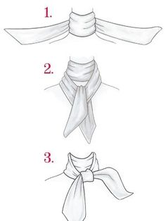 how to tie silk scarf