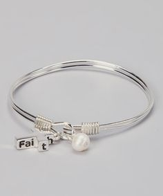 Take a look at this Silver Faith Cross Wire Bracelet by Mica on #zulily today! $12 !!