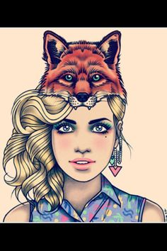 Rick Lee--YES! A blonde with a fox. Give her brown eyes & she's perfect! Amazing Drawings, Art Drawings, Rik Lee, Art Is Dead, Art Et Illustration, Illustrations, Shes Perfect, Pin Up Tattoos, Art Thou