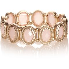 Accessorize Scallop Edged Stretch Bracelet by None, via Polyvore