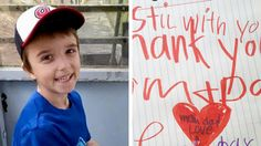 'Still with you': 6-year-old's tender note to parents after his passing