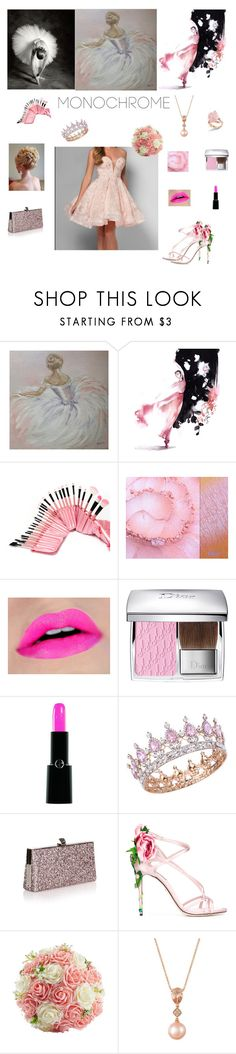 """🎀Dancing in Pink🎀"" by california-cheerleader ❤ liked on Polyvore featuring Christian Dior, Armani Beauty, Jimmy Choo, Dolce&Gabbana and LE VIAN"