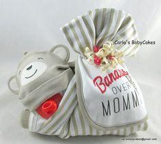 Stork bundle baby  Monkey diaper cake  Stork by MsCarlasBabyCakes
