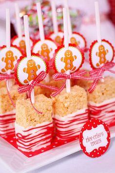 Adorable Candy Cane Rice Krispie Treats 500x750 10 Super Fun, Christmas Rice Krispie Treat Ideas