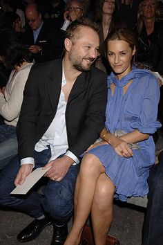 Juergen Teller and Yasmin Le Bon at YSL S07