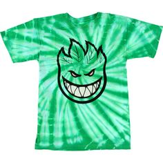 Spitfire Wheels Spark Another Green Tie Dye t-shirt - new at Warehouse Skateboards! #WHSkate