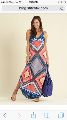 Eight Sixty Coretta maxi dress. Fun and colorful!