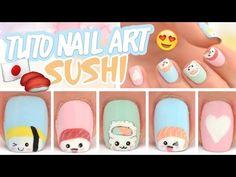 Nail art sushis ♡ - YouTube