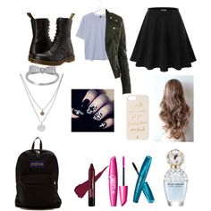 Untitled #11 by evalynntween on Polyvore featuring polyvore fashion style Boutique Doublju Dr. Martens JanSport Kenneth Cole Kate Spade Marc Jacobs