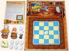 Настольная игра с фишками-игрушками «Курочка Ряба». Поле и карточки