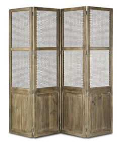 Cranbourne Folding Screen Accent Décor | Currey & Company.  Great room divider or folding screen that can be used as an accent in a home library or home office decor.