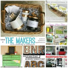 Check out the creative bloggers featured this week at the Makers! Share your creativity, discover new blogs and be inspired! Hosted by Upcycled Treasures, Tiny Sidekick and Persia Lou #linkparty