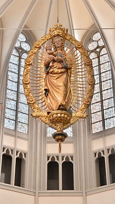 Virgin Mary and Infant Jesus at the Altenberg Cathedral, Germany