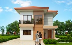 Small 2 Room House Design Innovation Small House Design Plan 5 As On Modern Decor Plans In Small House Interior Design Ideas Bonellibsd Co Elisa Four Bedroom Compact Two Storey. Small Modern House Plans, Modern Small House Design, Small House Interior Design, 2 Story House Design, Duplex House Design, House Layout Plans, My House Plans, Philippines House Design, Two Storey House Plans