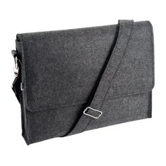 kikki.K: charcoal felt laptop satchel.  men, accessories, gifts