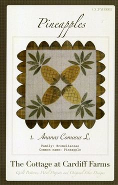 Pineapples Wool Table Mat