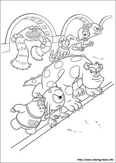 Great Monsters Inc Coloring Book 41 Monsters Inc Online coloring