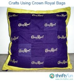 This is a guide about crafts using Crown Royal bags.Those beautiful purple cloth Crown Royal bags are perfect to use in many crafts.