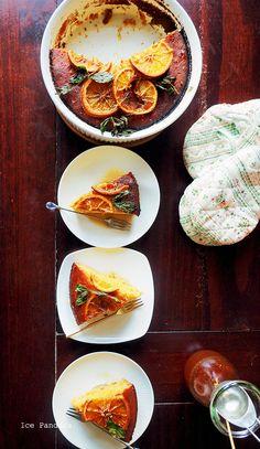 Gluten- and sugar free spicy orange polenta cake - http://icepandora.blogspot.nl/2017/10/spicy-orange-polenta-cake-perfect-fall.html
