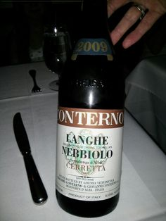 Friday treat...barolo-like but not quite @ babbo