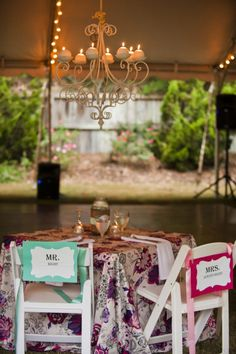 Outdoor Wedding Reception Decoration