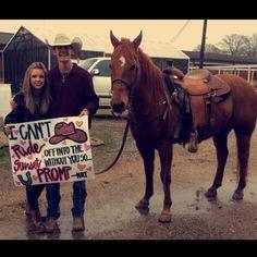 Cowboy prom proposal❤️                                                                                                                                                                                 More