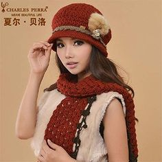 Woolen Clothes, Hat And Scarf Sets, Hats For Women, Winter Hats, Crochet Hats, Beanie, Pure Products, Casual, Fashion