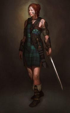 This is the concept art for Boudicca for Civ V, right? Awesome.  Add a little bit more armour, and it's Ash Britannia...