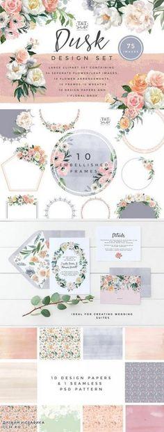 Flower Watercolor Clipart - Dusk - 1168158
