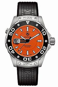 Tag watch with the orange face love this.  Its on my wish list!