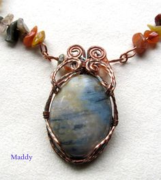Ocean Jasper Wire Wrapping in Antiqued Copper by Jewelrybyjane29, $49.00